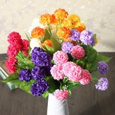 Kunstmatige Daisy Chrysant Zijde Bloemen Bloemboeket 8 Hoofden 7 Kleuren Huis Tuin
