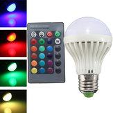 E27 3W IR Remote Control 16 Color Changee RGB LED Ball Bulbs 85-256V