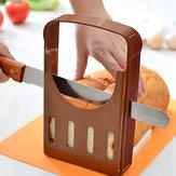 Cortar o pão torradas pão cortador slicer utensílio de cozinha guia de corte
