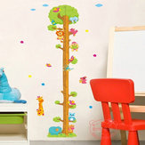 Cartoon Animal Tree Wall Stickers Children's Measuring Wall Sticker