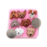 3D Cartoon Dogs Silicone Cake Mold Fondant Cake Decorating Tools