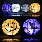 Halloween Pumpkin Paper Lantern Decoration Supplies Bat Spider Skull