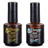 DANCINGNAIL Soak Off UV LED Gel Nail Polish Base and Top Coat Kit