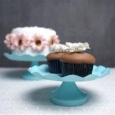3 tamanho azul redonda bolo cupcake pedestal Sobremesa titular festa de casamento decorações