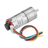 Machifit 25GA370 DC 6V Micro Gear Reduction Motor with Encoder Speed Dial Reducer