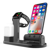 3 em 1 liga de alumínio estação de carregamento dock station holder para iphone apple airpods Apple Watch series
