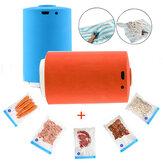 PortátilMiniAutomáticoDeCompressãoElétrica Bomba de Vácuo De Armazenamento De Alimentos Embalagem Dispositivo de Embalagem + 5 Sacos Compressed