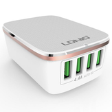 LDNIO 4 USB Ports 4.4A Fast Charger EU Plugs Charger For iphone 8 8 Plus iphone X Xiaomi Samsung