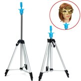 Adjustable Tripod Stand Hair Mannequin Training Head Holder Hairdressing Clamp with Bag
