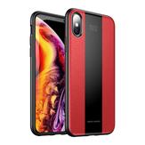 BakeeyEtuiochronnynaiPhoneX / XR / XS/XS Max / 8/8 Plus/7/7 Plus / 6s / 6s Plus/6/6 Plus Skóra tekstura Anti Fingerprint PU skóra TPU zderzak tylna okładka