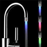 Luz de Grifo LED Regurable RGB Controlado por Sensor de Temperatura para Cocina Baño