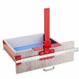 Lega di alluminio rossa Metrica / Pollici Cabinet Hardware Jig 4mm 5mm Drill Guide Cabinet Handle Template Jig