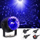 3W UV Purple LED Stage Light Semovente / a comando vocale / lampeggiante Crystal Ball Party Disco Club