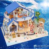 Hoomeda légende de la mer bleue bricolage modèle miniature de maison de poupée avec Light Music Collection G
