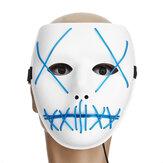 Motocicleta Halloween Horror Costume Ilumine Rosto Máscara