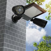 Solar Powered 76 LED Triple Head PIR Sensore di movimento Flood Light Spotlight Outdoor Garden lampada