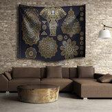 Indian Mandala elefante toalha de praia tapeçaria parede suspensa throw dormitório colcha decor