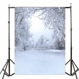 5x7FT Vinyl Winter Snow Forest Photography Backdrop Background Studio Prop