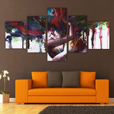 5 Pcs Casal Abstrata Cópia Da Lona Pinturas Fotos Casa Wall Art Decor Unframed