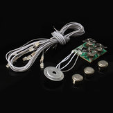 Hoomeda Voice Activated Light Dollhouse Part Button Cell Battery Light With Wires