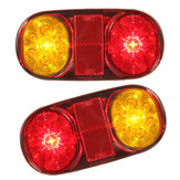 LED Rear Tail Lights Turn Signal Lamps Waterproof 12V 2PCS for Boat Trailer UTE Camper Truck