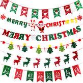 Natal 2017 Papelão Flâmula Banners Bandeiras Pendurado Buntings Garland Banner String Party Flag