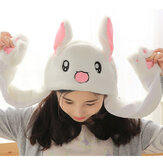 Rabbit Hat Ear Will Move When You Hold The Leg Funny Plush Hat Toy Child Decoration Toys