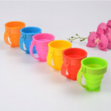 Honana Portable Foldable Silica Gel 5 Color Options Toothbrush Holder Cup Travel Drink Washing Cup