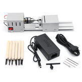 96W  DC12-24V Mini Wood Lathe Beads Saw Machine Set Woodworking DIY Beads Polishing Cutting Drill