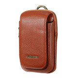 Men PU Leather Outdoor Sport Casual Phone Bolsa Bolsa de telefone celular por 5,5 polegadas de telefone