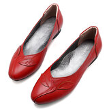 Femme Chaussures Feuille Confortable Causal Slip On Flats
