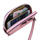 Genuine Leather Bowknot Zipper Clutches Bags Long Wallet Card Holder 5.5'' Phone Bags For IPhone