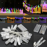 Zasilany baterią 2.2M 20LED Photo Peg Clip Shape Fairy String Light do wiszącej karty obrazu