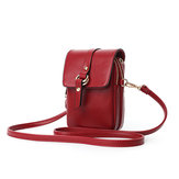 Mulheres Faux Leather Mini Phone Bags Bolsas Crossbody