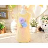 Flower Ice Cream Dog Vest T-Shirts Pet Products Summer Clothes For Dog Pet Dog Clothing