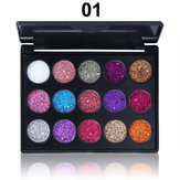 CmmaDu 15 Colors Glitter Eyeshadow Palette