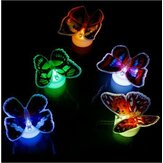 LED-knipperende Butterfly Night Light Kleuren Verandering Decoratieve Lights 3D Stickers Home Decor