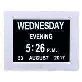 7 İnç LED Dijital Takvim Gün Saat Ekstra Büyük Süre Gün Hafta Ay Yıl