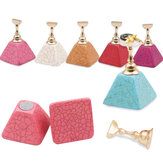 6 Colors False Nail Tips Practice Stand Set