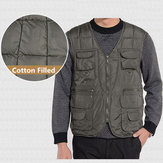 Men Tactical Functional Multi Pocket im Freien warme Weste