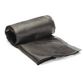 Folha do Weave da tela da planície da sarja do pano 3K da fibra do carbono da largura de 12 polegadas