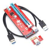0.6m 6 Pin PCI-E Express 1X TO 16X Extender Riser Board адаптер для кабеля для горнодобывающей промышленности