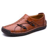 Men Comfortable Genuine Leather Soft Sole Oxfords