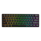Geek GK61 60% 61Keys Gateron Optical Axis RGB Clavier Mécanique Type-c Programmable Jeux