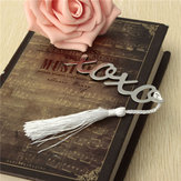 Silver Mental Bookmark With A Tassel Crafting Label Book Mark Party Favor Gifts
