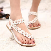 Bohemia Flowers Strappy Y Shape Beach Sandals