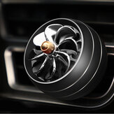 Mini Air Force 8 Car LED Air Vent Mount Perfume Clip Fan Air Freshener Fragrance Scent Decoration