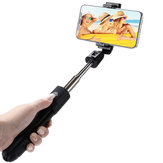 Universal bluetooth4.0 Remote Rotation Wireless Selfie Stick Tripod Portable for Mobile Phone Live Broadcast