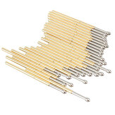 P100-E2 100 Pcs Dia 1.36mm Panjang 33.3mm 180g Musim Semi Uji Probe Pogo Pin Tool