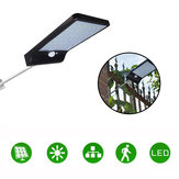 36LED Garden Solar Powered Wall ضوء ضد للماء PIR Motion المستشعر Walkway Outdoor Lamp